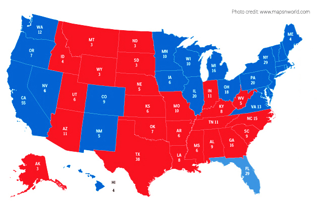 US 2012 Election results map