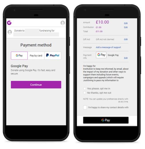 Google Pay screenshots