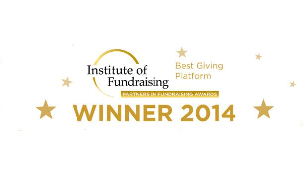 JustGiving wins Best Giving Platform