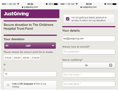 Old donate process