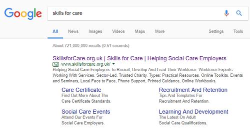 skillsforcare-serp