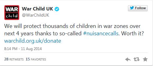 Warchild UK tweet